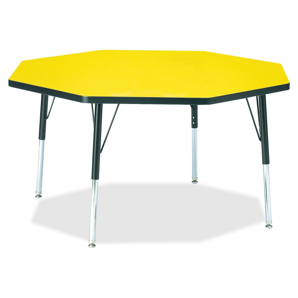 """Jonti-Craft Berries Elementary Height Color Edge Octagon Table - Laminated Octagonal, Yellow Top - Four Leg Base - 4 Legs - 1.13"""" Table Top Thickness x 48"""" Table Top Diameter - 24"""" Height - Assembly R. Picture 2"""