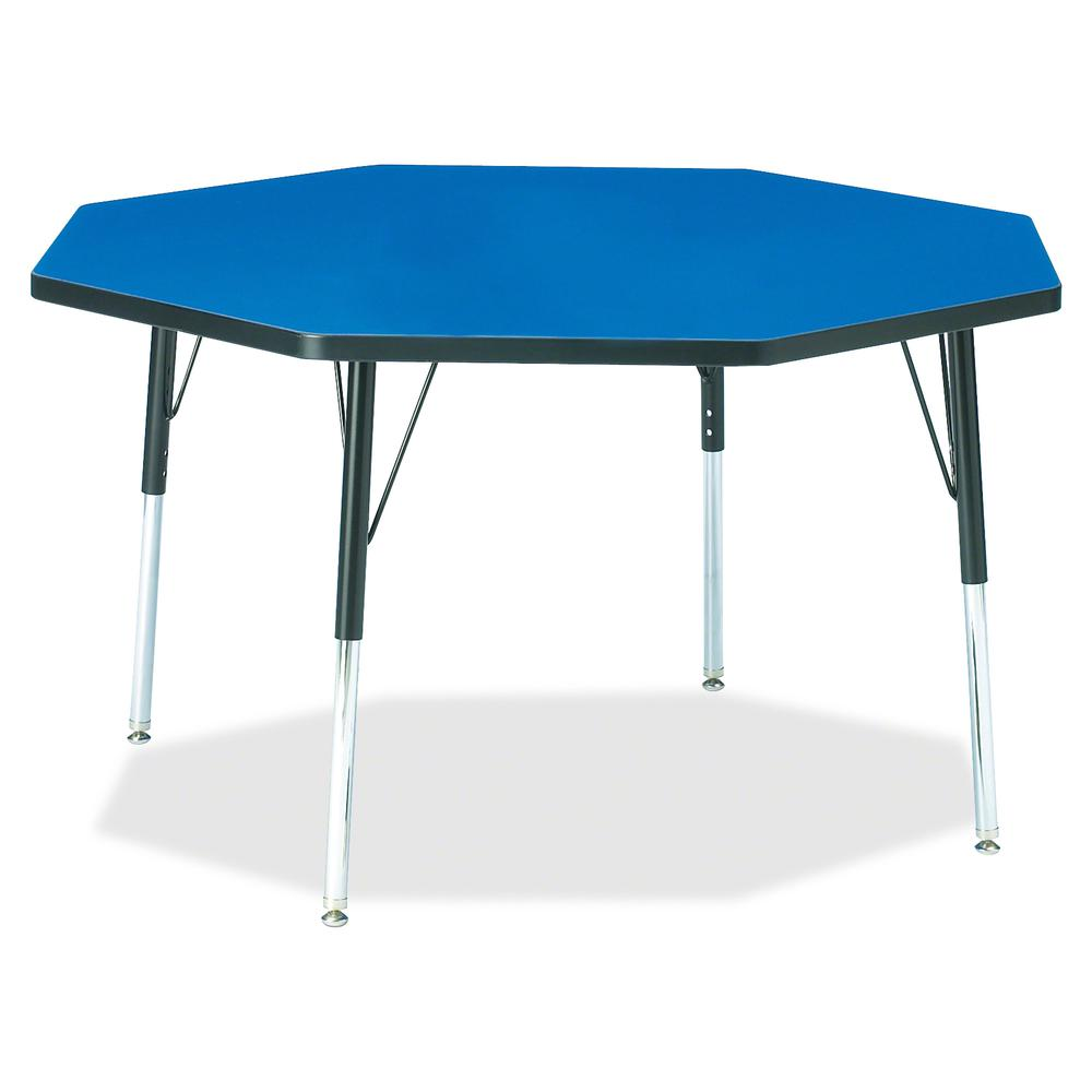 "Berries Adult Height Color Top Octagon Table - Blue Octagonal, Laminated Top - Four Leg Base - 4 Legs - 1.13"" Table Top Thickness x 48"" Table Top Diameter - 31"" Height - Assembly Required - Powder Coa. Picture 2"