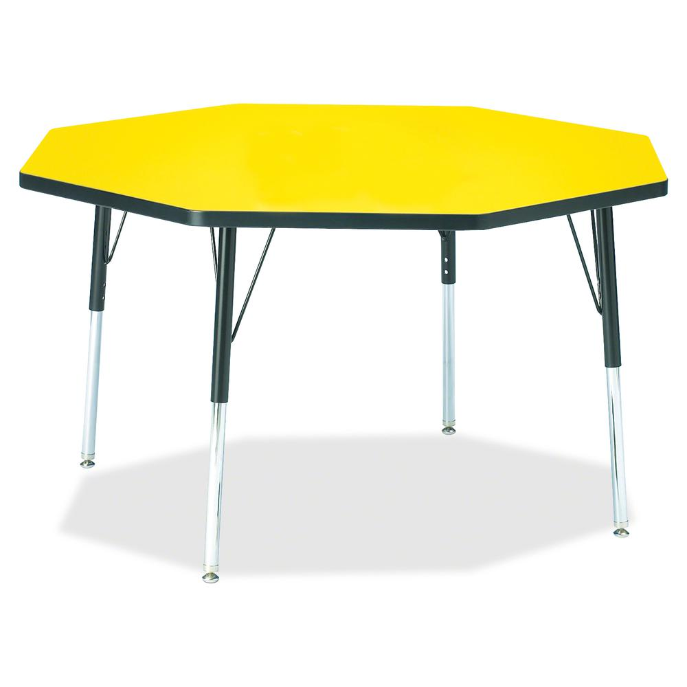 """Jonti-Craft Berries Adult Height Color Top Octagon Table - Laminated Octagonal, Yellow Top - Four Leg Base - 4 Legs - 1.13"""" Table Top Thickness x 48"""" Table Top Diameter - 31"""" Height - Assembly Require. Picture 2"""
