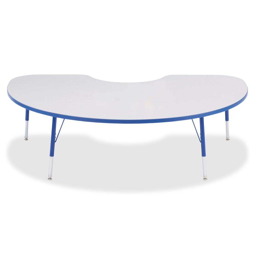 "Berries Toddler Height Color Edge Kidney Table - Blue Kidney-shaped, Laminated Top - Four Leg Base - 4 Legs - 72"" Table Top Length x 48"" Table Top Width x 1.13"" Table Top Thickness - 15"" Height - Asse. Picture 3"