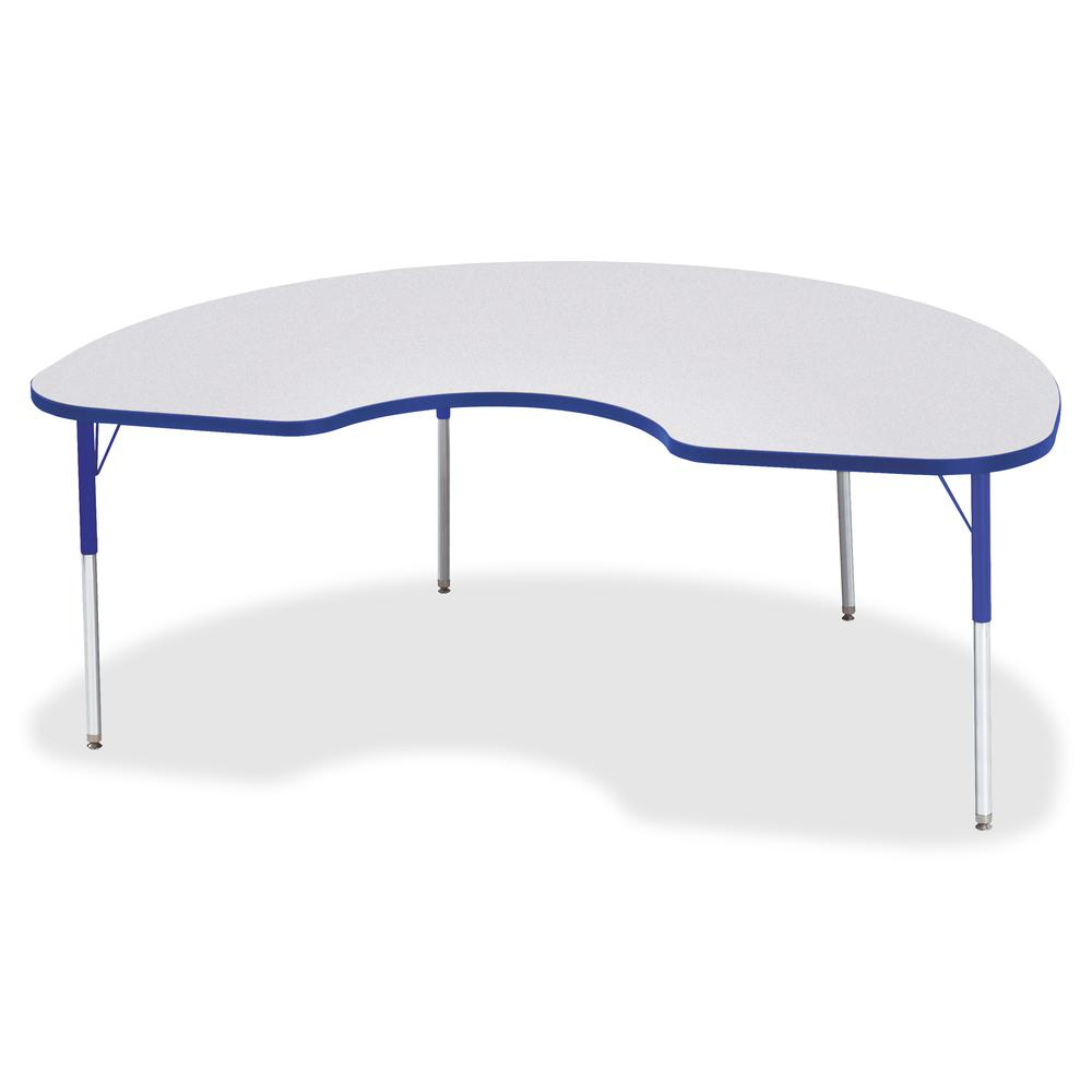 """Berries Adult Height Prism Color Edge Kidney Table - Blue Kidney-shaped, Laminated Top - Four Leg Base - 4 Legs - 72"""" Table Top Length x 48"""" Table Top Width x 1.13"""" Table Top Thickness - 31"""" Height - . Picture 3"""