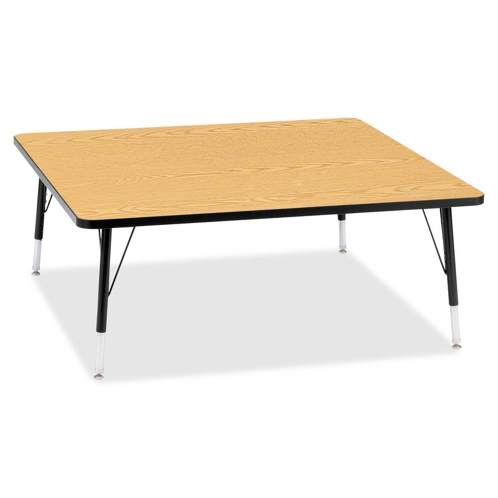 """Berries Toddler Height Color Top Square Table - Black Oak Square, Laminated Top - Four Leg Base - 4 Legs - 48"""" Table Top Length x 48"""" Table Top Width x 1.13"""" Table Top Thickness - 15"""" Height - Assembl. Picture 2"""