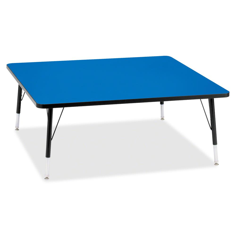 "Berries Toddler Height Color Top Square Table - Blue Square, Laminated Top - Four Leg Base - 4 Legs - 48"" Table Top Length x 48"" Table Top Width x 1.13"" Table Top Thickness - 15"" Height - Assembly Req. Picture 2"