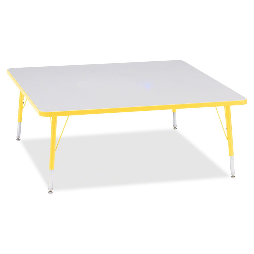 """Jonti-Craft Berries Toddler Prism Edge Color Square Table - Laminated Square, Yellow Top - Four Leg Base - 4 Legs - 48"""" Table Top Length x 48"""" Table Top Width x 1.13"""" Table Top Thickness - 15"""" Height . Picture 3"""
