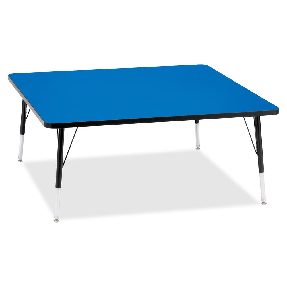 "Jonti-Craft Berries Elementary Height Color Top Square Table - Blue Square, Laminated Top - Four Leg Base - 4 Legs - 48"" Table Top Length x 48"" Table Top Width x 1.13"" Table Top Thickness - 24"" Height. Picture 2"