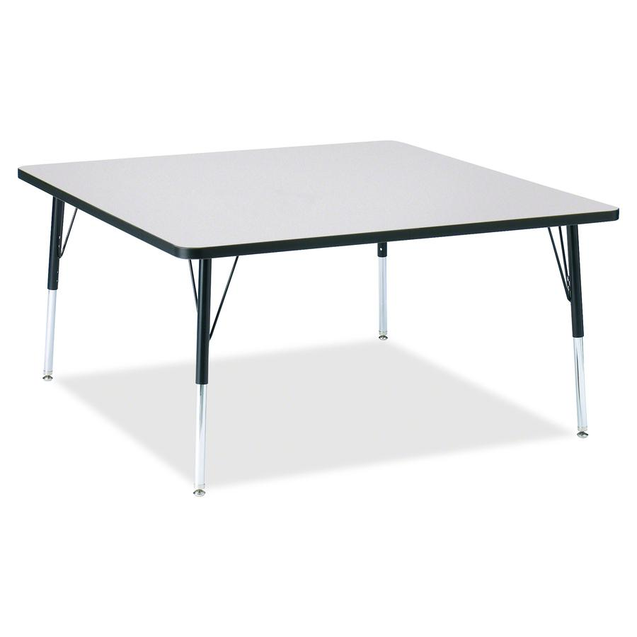 """Berries Adult Height Prism Color Edge Square Table - Black Square, Laminated Top - Four Leg Base - 4 Legs - 48"""" Table Top Length x 48"""" Table Top Width x 1.13"""" Table Top Thickness - 31"""" Height - Assemb. Picture 3"""