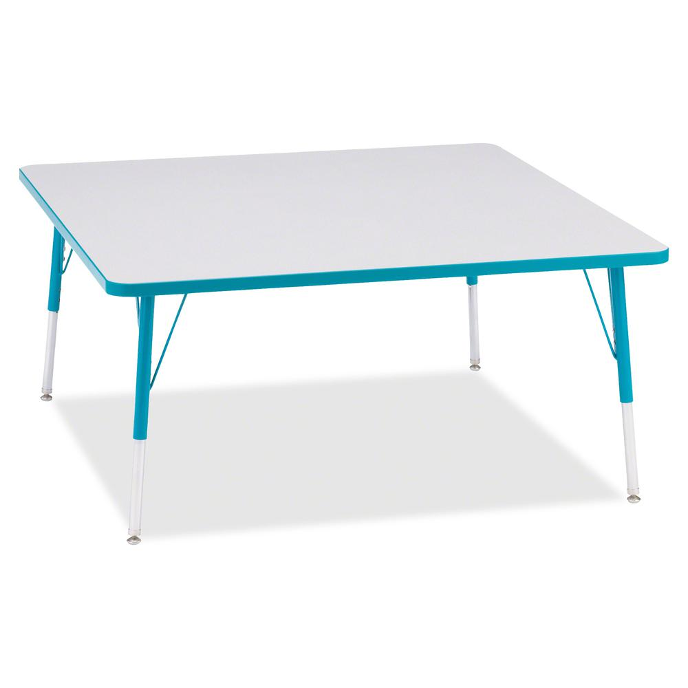 "Berries Adult Height Prism Color Edge Square Table - Laminated Square, Teal Top - Four Leg Base - 4 Legs - 48"" Table Top Length x 48"" Table Top Width x 1.13"" Table Top Thickness - 31"" Height - Assembl. Picture 3"