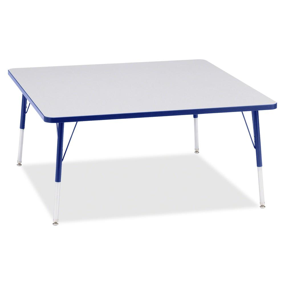 "Berries Adult Height Prism Color Edge Square Table - Blue Square, Laminated Top - Four Leg Base - 4 Legs - 48"" Table Top Length x 48"" Table Top Width x 1.13"" Table Top Thickness - 31"" Height - Assembl. Picture 3"