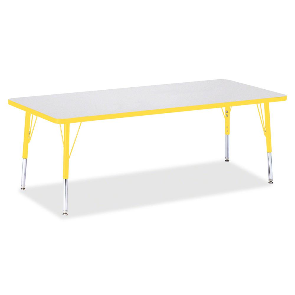 """Berries Toddler Height Prism Edge Rectangle Table - Laminated Rectangle, Yellow Top - Four Leg Base - 4 Legs - 72"""" Table Top Length x 30"""" Table Top Width x 1.13"""" Table Top Thickness - 15"""" Height - Ass. Picture 2"""