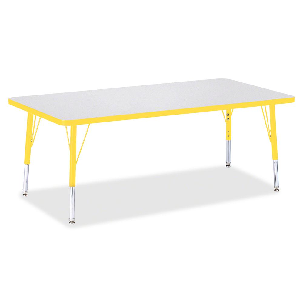"""Berries Toddler Height Prism Edge Rectangle Table - Laminated Rectangle, Yellow Top - Four Leg Base - 4 Legs - 60"""" Table Top Length x 30"""" Table Top Width x 1.13"""" Table Top Thickness - 15"""" Height - Ass. Picture 3"""