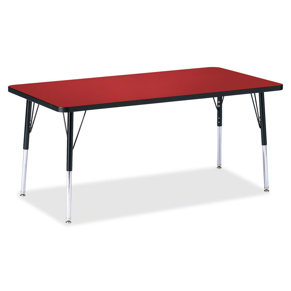 """Jonti-Craft Berries Adult Height Color Top Rectangle Table - Laminated Rectangle, Red Top - Four Leg Base - 4 Legs - 60"""" Table Top Length x 30"""" Table Top Width x 1.13"""" Table Top Thickness - 31"""" Height. Picture 2"""