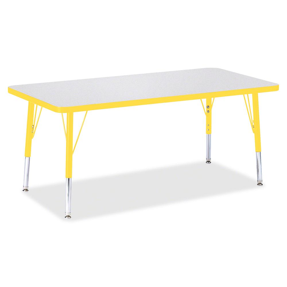 """Berries Toddler Height Prism Edge Rectangle Table - Laminated Rectangle, Yellow Top - Four Leg Base - 4 Legs - 48"""" Table Top Length x 24"""" Table Top Width x 1.13"""" Table Top Thickness - 15"""" Height - Ass. Picture 3"""