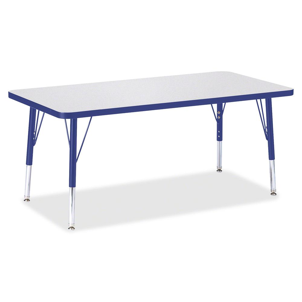 "Berries Toddler Height Prism Edge Rectangle Table - Blue Rectangle, Laminated Top - Four Leg Base - 4 Legs - 48"" Table Top Length x 24"" Table Top Width x 1.13"" Table Top Thickness - 15"" Height - Assem. Picture 2"