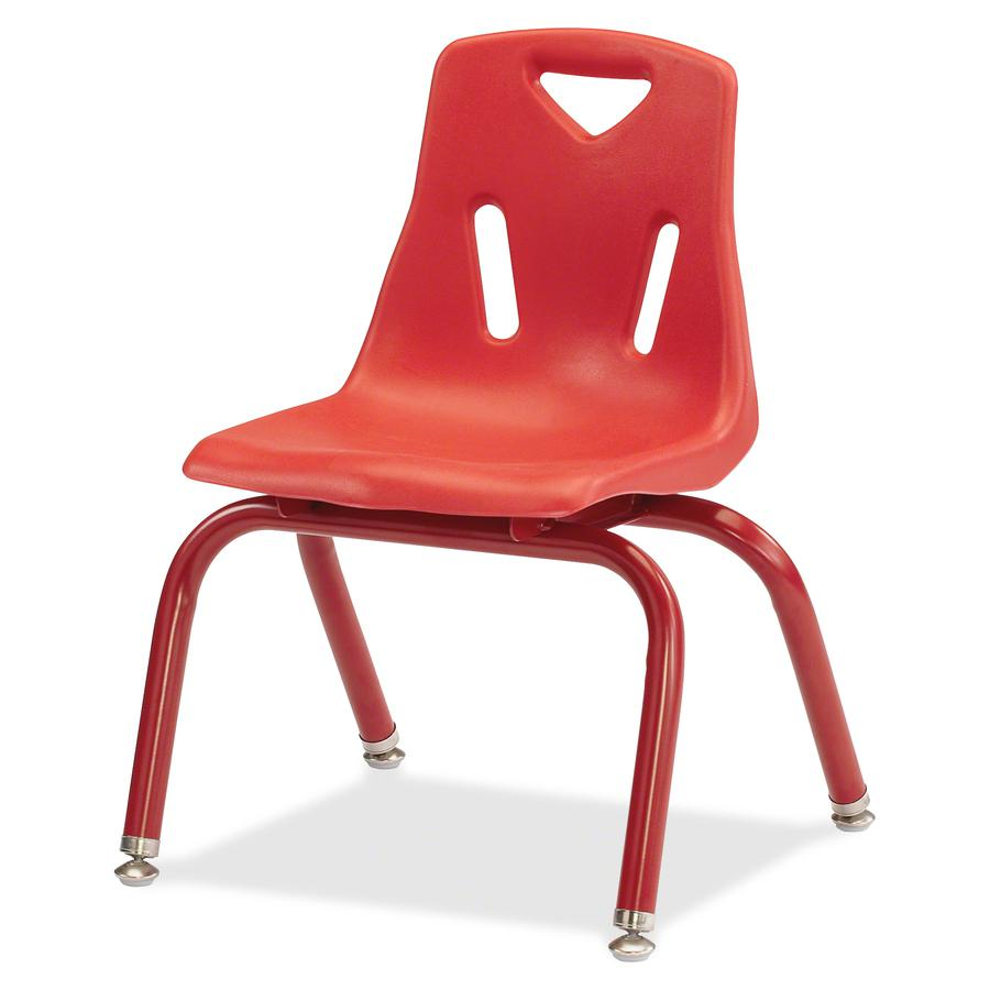 """Jonti-Craft Berries Plastic Chair with Powder Coated Legs - Steel Frame - Four-legged Base - Red - Polypropylene - 16.5"""" Width x 13.5"""" Depth x 19.5"""" Height - 1 Each. Picture 4"""