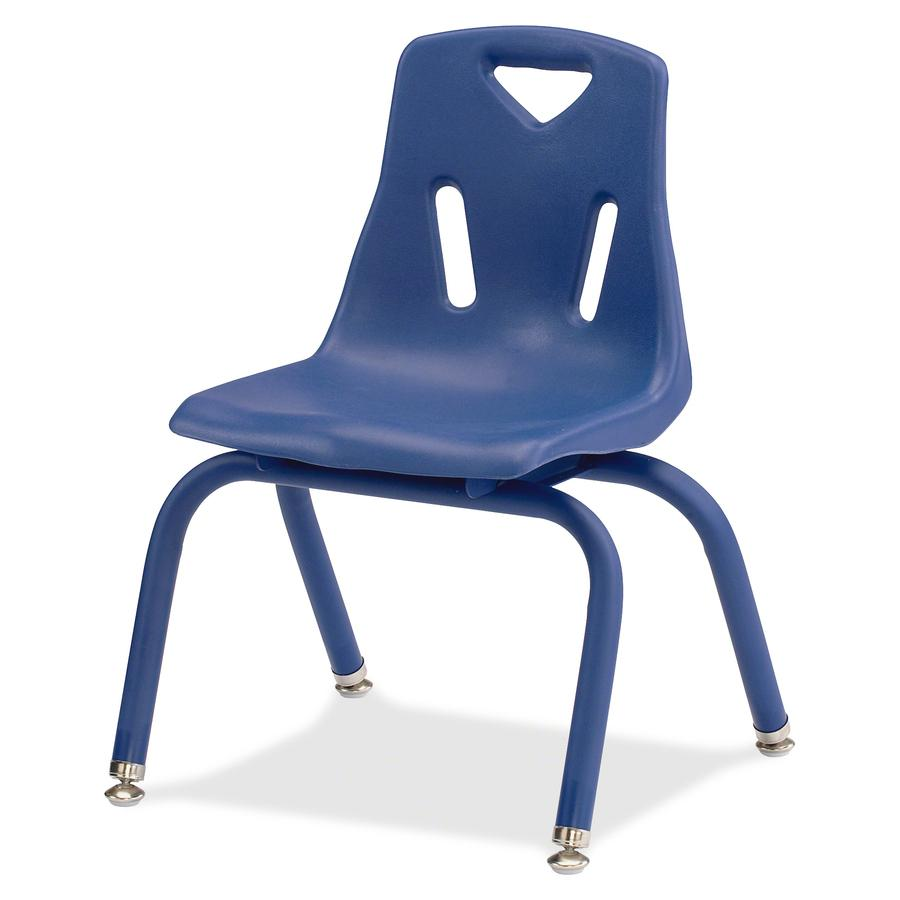 "Jonti-Craft Berries Plastic Chair with Powder Coated Legs - Steel Frame - Four-legged Base - Blue - Polypropylene - 16.5"" Width x 13.5"" Depth x 19.5"" Height - 1 Each. Picture 4"