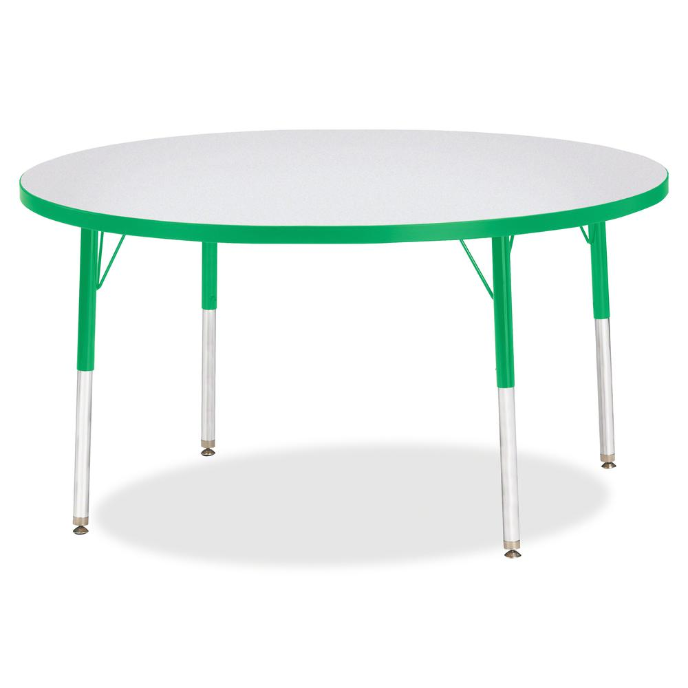 "Berries Adult Height Color Edge Round Table - Green Round, Laminated Top - Four Leg Base - 4 Legs - 1.13"" Table Top Thickness x 48"" Table Top Diameter - 31"" Height - Assembly Required - Powder Coated. Picture 3"
