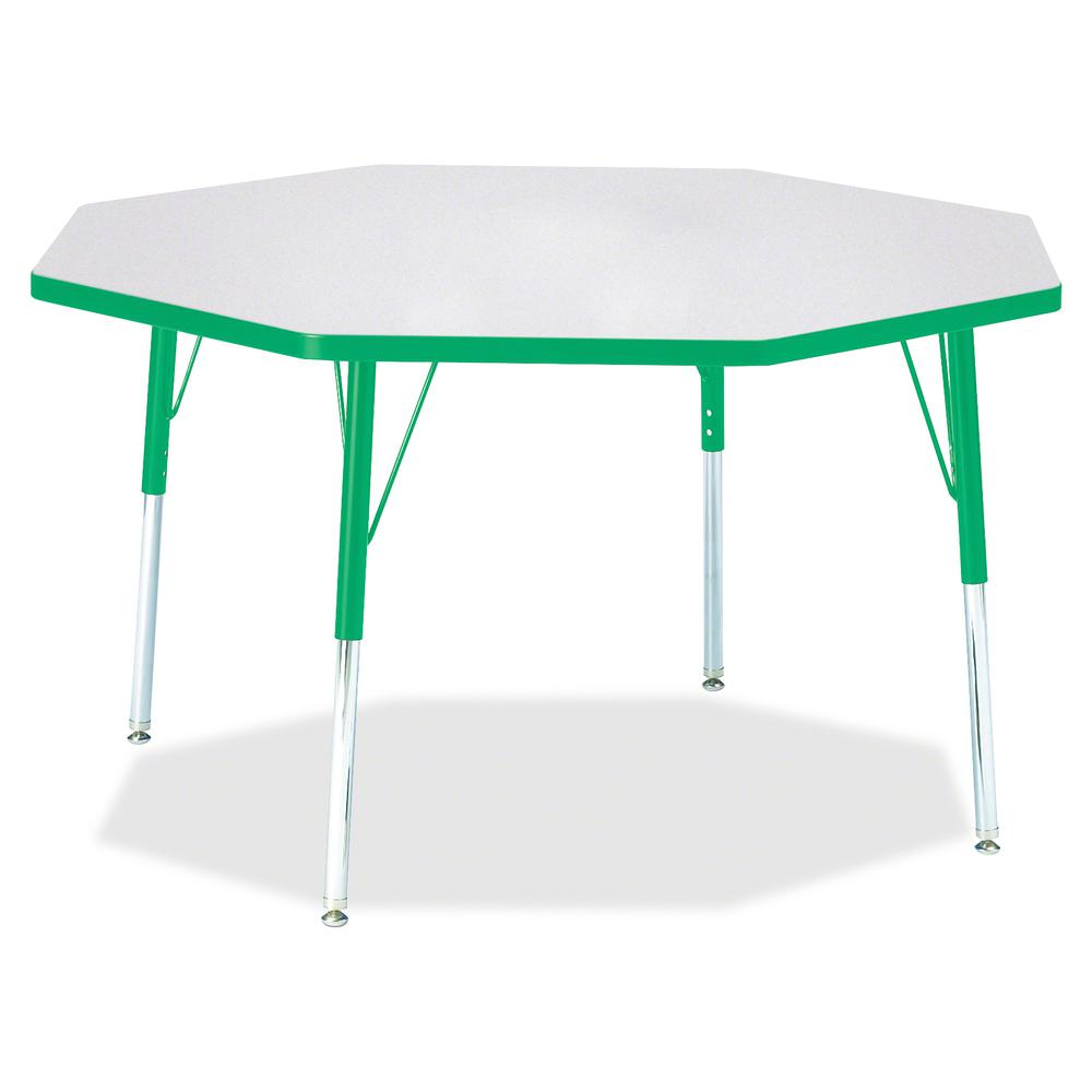 """Berries Adult Height Color Edge Octagon Table - Gray Octagonal, Laminated Top - Four Leg Base - 4 Legs - 1.13"""" Table Top Thickness x 48"""" Table Top Diameter - 31"""" Height - Assembly Required - Powder Co. Picture 2"""