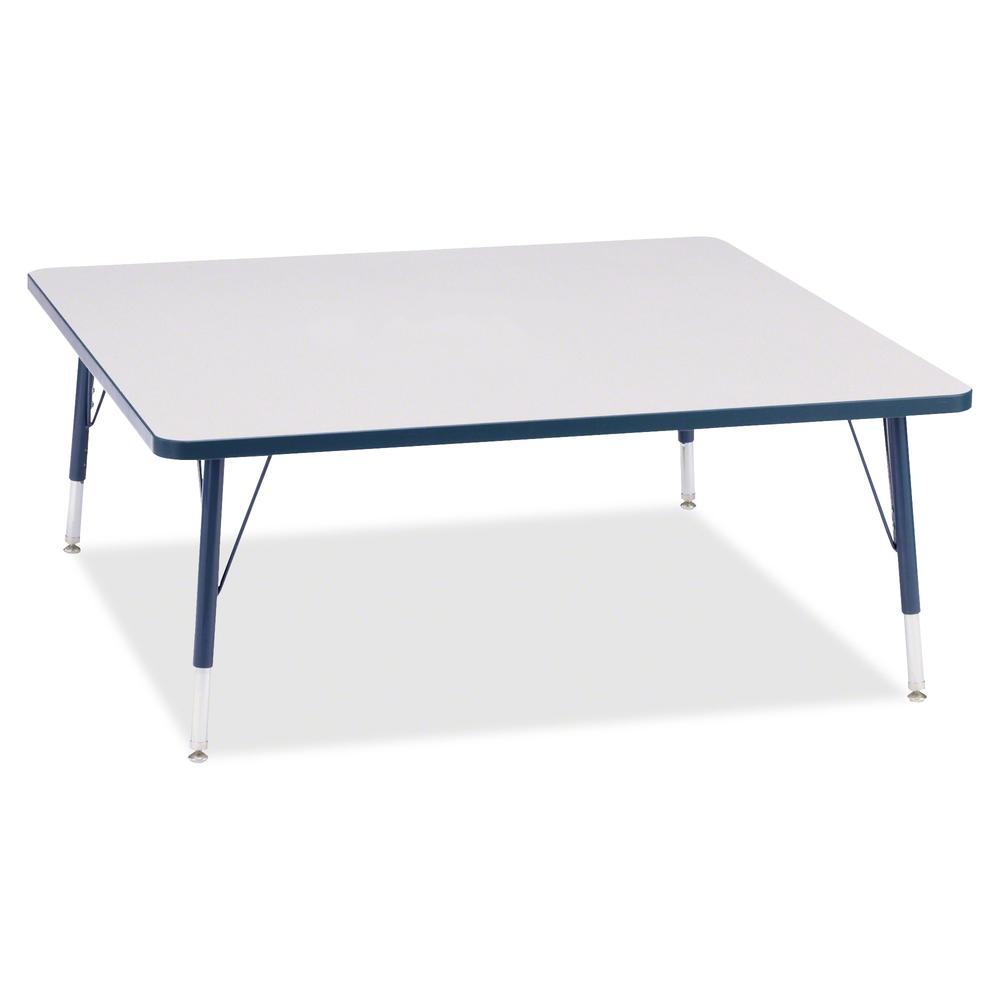 """Berries Toddler Prism Edge Color Square Table - Laminated Square, Navy Top - Four Leg Base - 4 Legs - 48"""" Table Top Length x 48"""" Table Top Width x 1.13"""" Table Top Thickness - 15"""" Height - Assembly Req. Picture 2"""