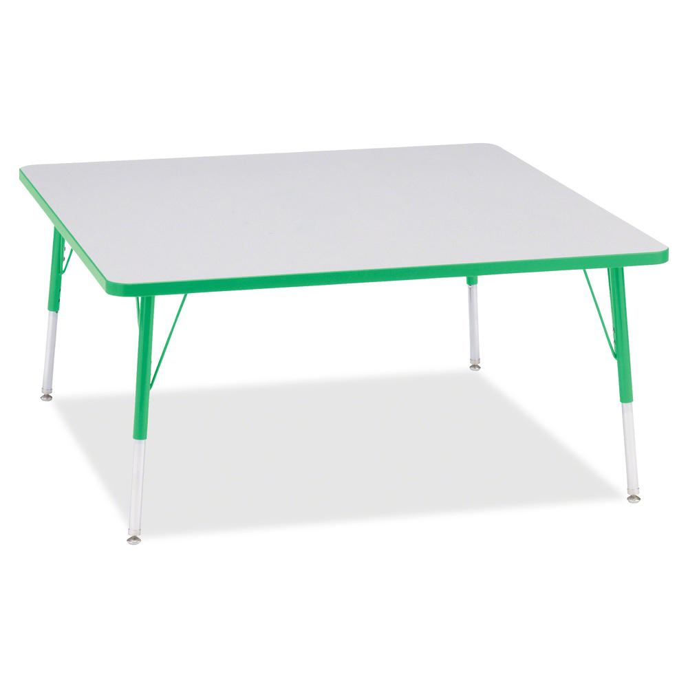 """Berries Adult Height Prism Color Edge Square Table - Green Square, Laminated Top - Four Leg Base - 4 Legs - 48"""" Table Top Length x 48"""" Table Top Width x 1.13"""" Table Top Thickness - 31"""" Height - Assemb. Picture 2"""