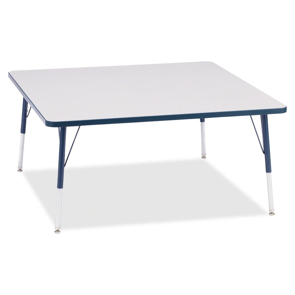 "Berries Adult Height Prism Color Edge Square Table - Laminated Square, Navy Top - Four Leg Base - 4 Legs - 48"" Table Top Length x 48"" Table Top Width x 1.13"" Table Top Thickness - 31"" Height - Assembl. Picture 3"
