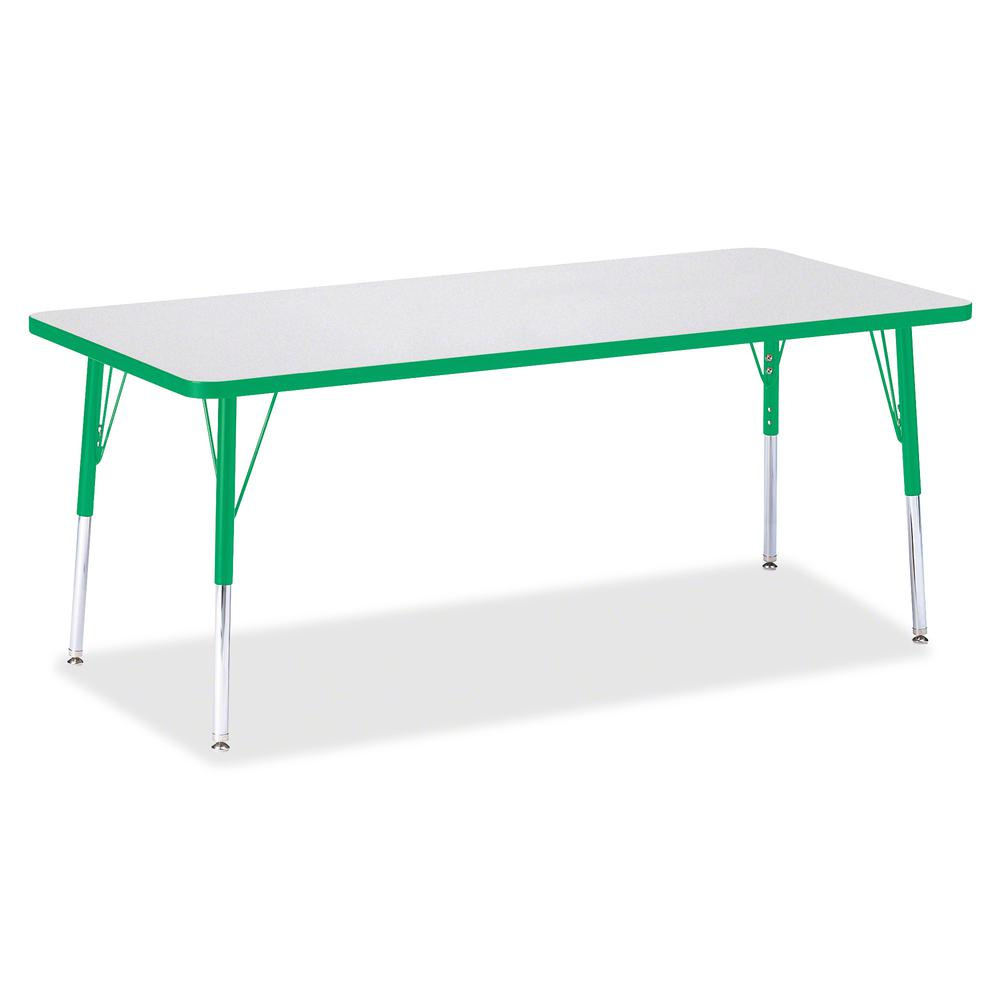 """Jonti-Craft Berries Elementary Height Color Edge Rectangle Table - Gray Rectangle Top - Four Leg Base - 4 Legs - 72"""" Table Top Length x 30"""" Table Top Width x 1.13"""" Table Top Thickness - 24"""" Height - A. Picture 3"""
