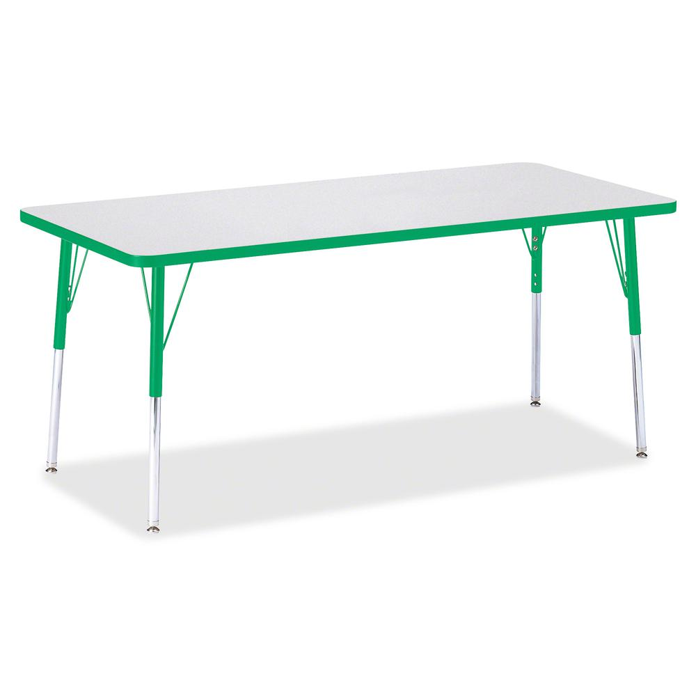 """Jonti-Craft Berries Adult Height Color Edge Rectangle Table - Green Rectangle, Laminated Top - Four Leg Base - 4 Legs - 72"""" Table Top Length x 30"""" Table Top Width x 1.13"""" Table Top Thickness - 31"""" Hei. Picture 3"""