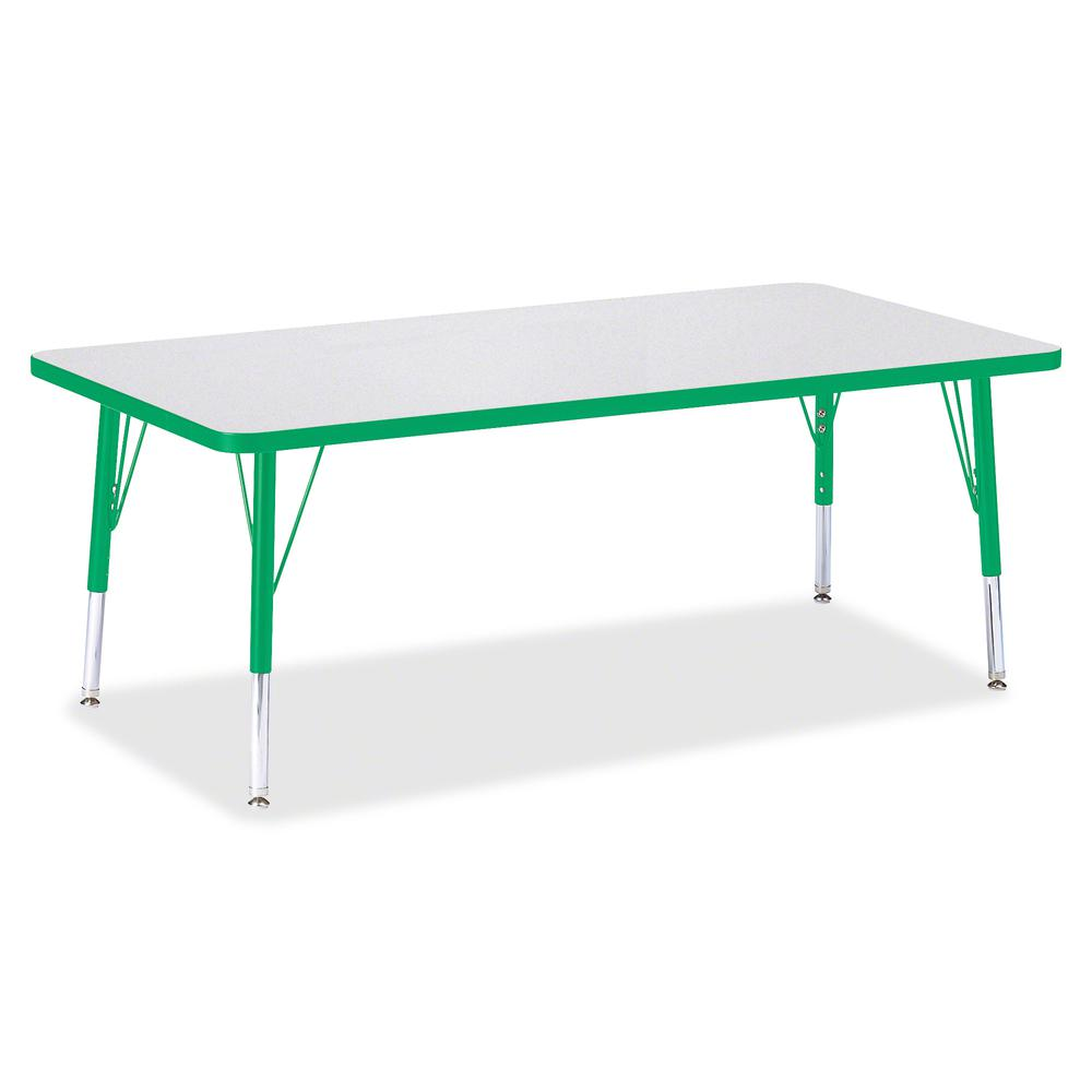 "Berries Toddler Height Prism Edge Rectangle Table - Green Rectangle, Laminated Top - Four Leg Base - 4 Legs - 60"" Table Top Length x 30"" Table Top Width x 1.13"" Table Top Thickness - 15"" Height - Asse. Picture 2"