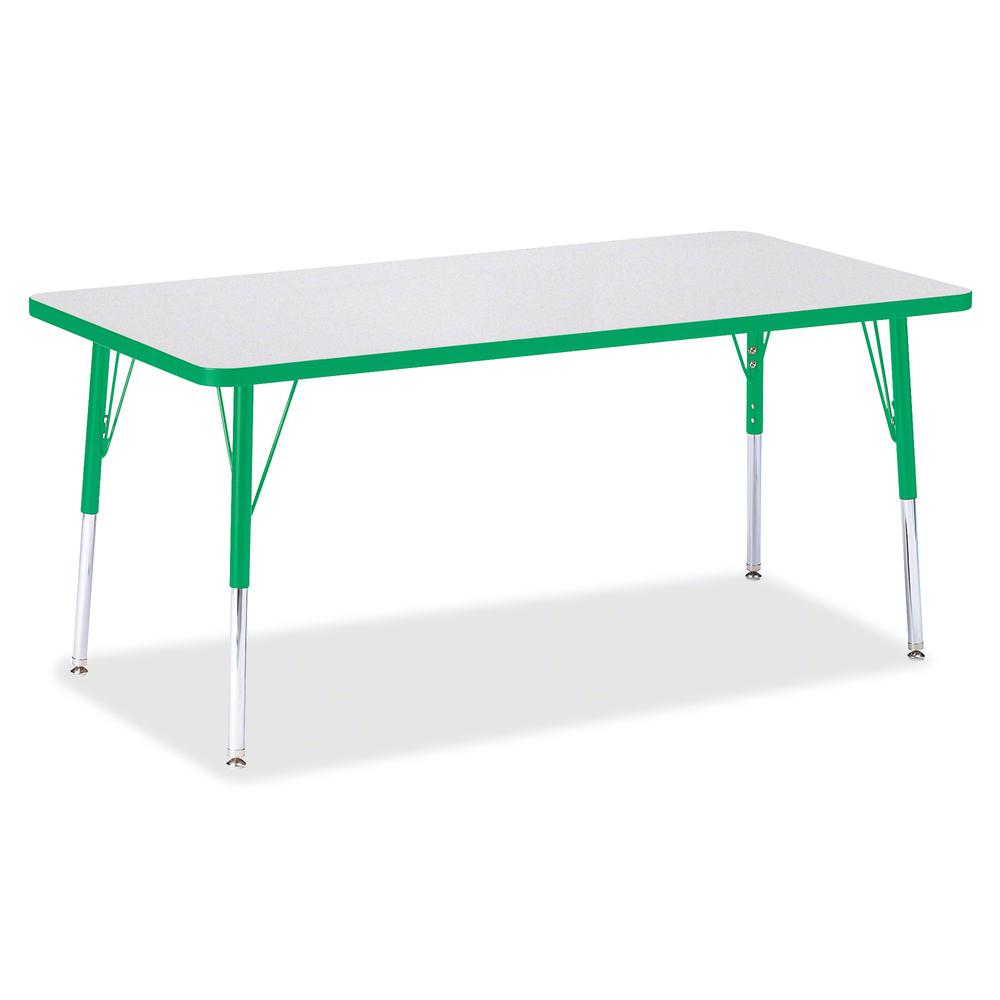 "Jonti-Craft Berries Adult Height Color Edge Rectangle Table - Green Rectangle, Laminated Top - Four Leg Base - 4 Legs - 60"" Table Top Length x 30"" Table Top Width x 1.13"" Table Top Thickness - 31"" Hei. Picture 3"