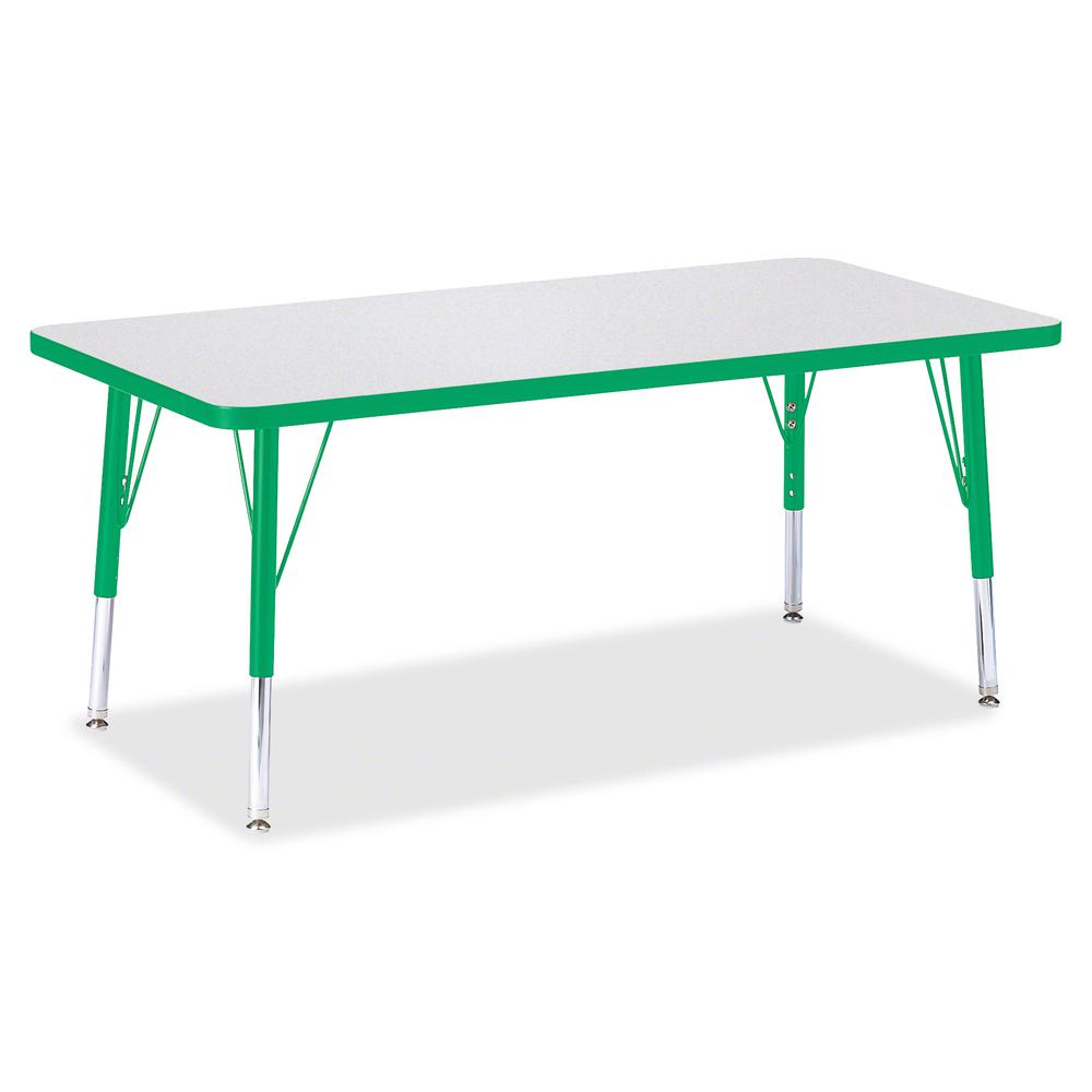 "Berries Toddler Height Prism Edge Rectangle Table - Green Rectangle, Laminated Top - Four Leg Base - 4 Legs - 48"" Table Top Length x 24"" Table Top Width x 1.13"" Table Top Thickness - 15"" Height - Asse. Picture 2"