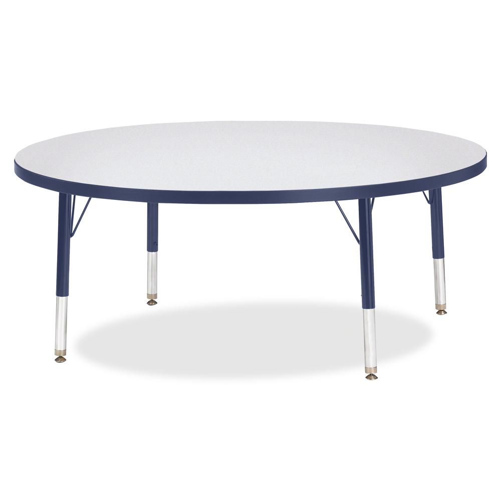 "Jonti-Craft Berries Toddler Height Color Edge Round Table - Laminated Round, Navy Top - Four Leg Base - 4 Legs - 1.13"" Table Top Thickness x 48"" Table Top Diameter - 15"" Height - Assembly Required - P. Picture 2"