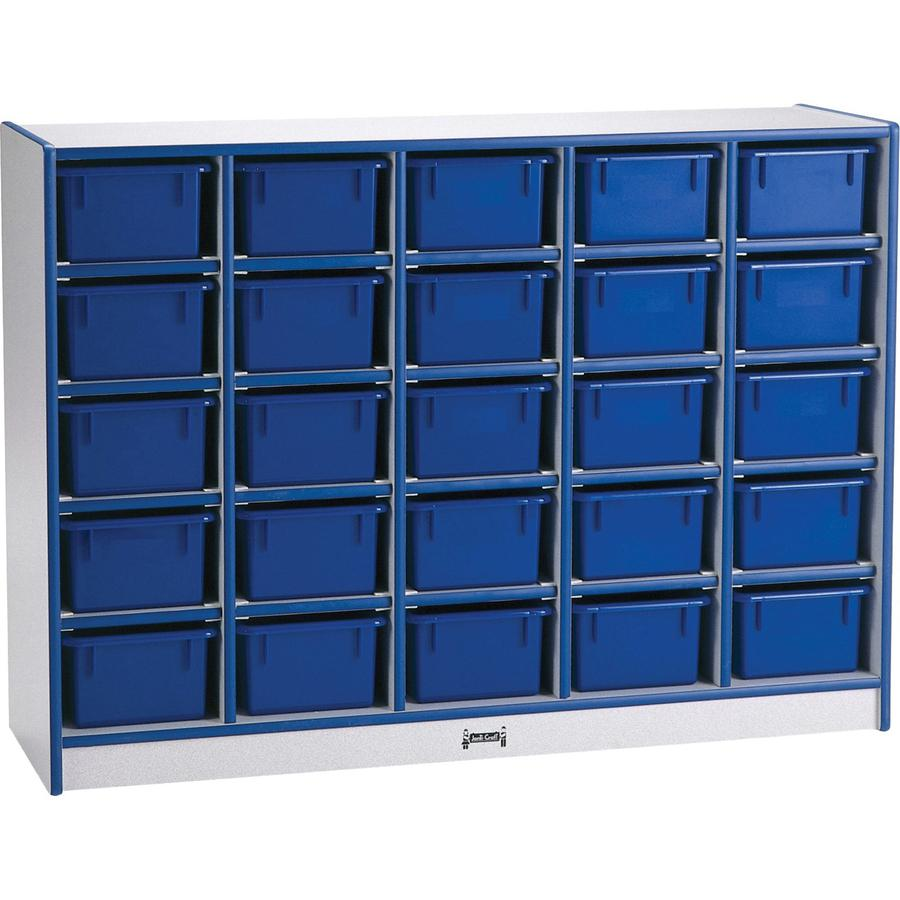"Rainbow Accents Toddler Single Storage - 35.5"" Height x 48"" Width x 15"" Depth - Blue - Rubber - 1Each. Picture 4"