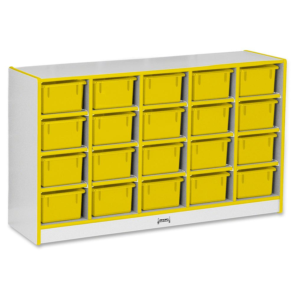 "Rainbow Accents Rainbow Accents Cubbie-trays Storage Unit - 29.5"" Height x 48"" Width x 15"" Depth - Yellow - Rubber - 1Each. Picture 3"