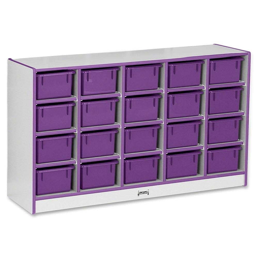 "Rainbow Accents Rainbow Accents Cubbie-trays Storage Unit - 29.5"" Height x 48"" Width x 15"" Depth - Purple - Rubber - 1Each. Picture 3"