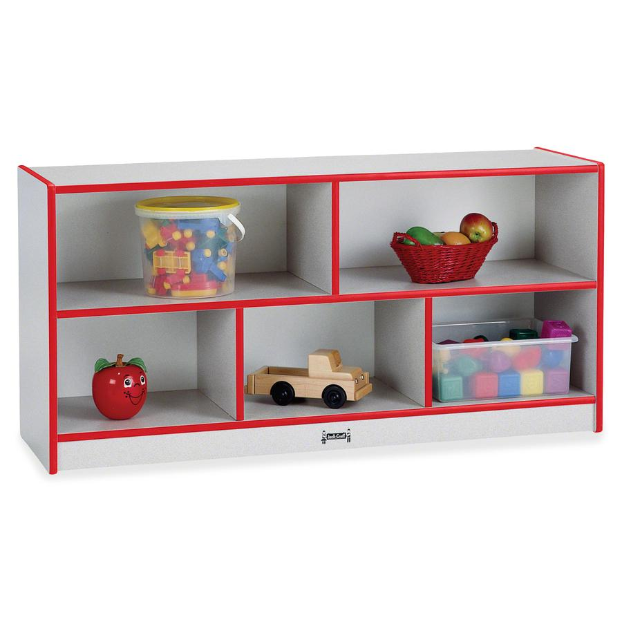 """Rainbow Accents Rainbow Low Open Single Storage Shelf - 29.5"""" Height x 48"""" Width x 15"""" Depth - Red - Rubber - 1Each. Picture 3"""