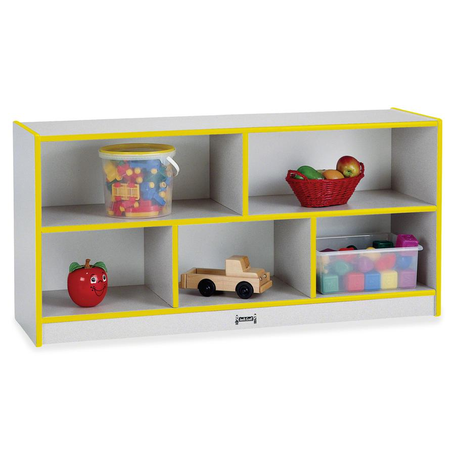 """Rainbow Accents Rainbow Low Open Single Storage Shelf - 29.5"""" Height x 48"""" Width x 15"""" Depth - Yellow - Rubber - 1Each. Picture 3"""