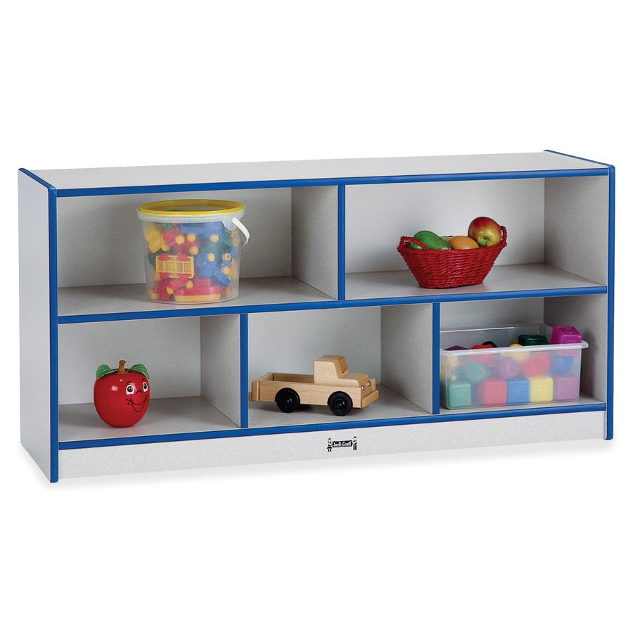 "Rainbow Accents Rainbow Low Open Single Storage Shelf - 29.5"" Height x 48"" Width x 15"" Depth - Blue - Rubber - 1Each. Picture 2"