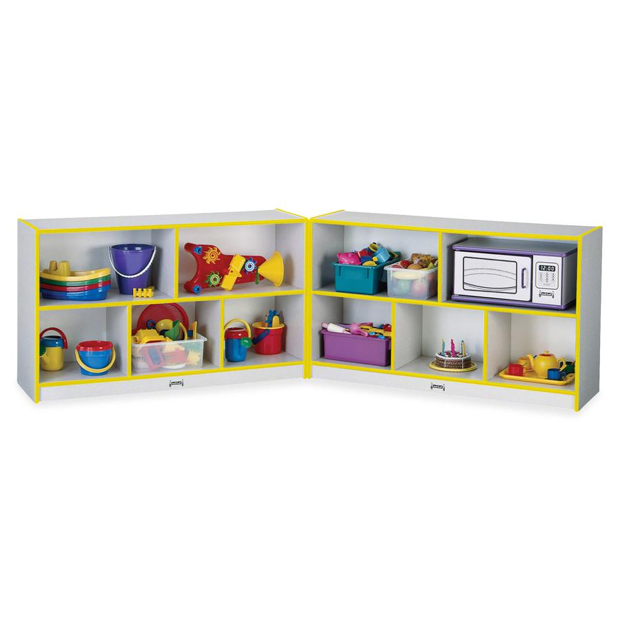 """Rainbow Accents Fold-n-Lock Storage Shelf - 24.5"""" Height x 96"""" Width x 15"""" Depth - Yellow - Hard Rubber - 1Each. Picture 3"""