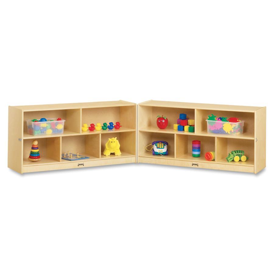 "Jonti-Craft Toddler Fold-n-Lock Mobile Storage - 24.5"" Height x 96"" Width x 15"" Depth - Baltic - Hard Rubber - 1Each. Picture 2"