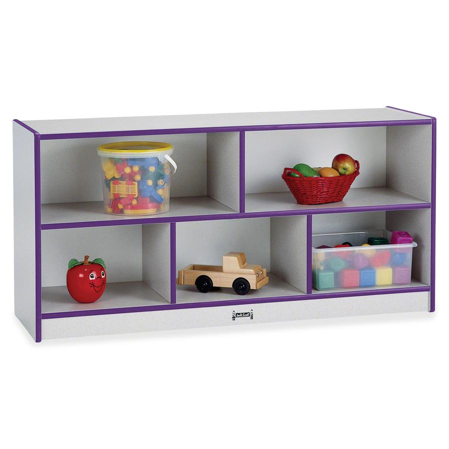 "Jonti-Craft Rainbow Accents Toddler Single Storage - 24.5"" Height x 48"" Width x 15"" Depth - Laminated, Durable - Purple - Rubber - 1 Each. Picture 2"