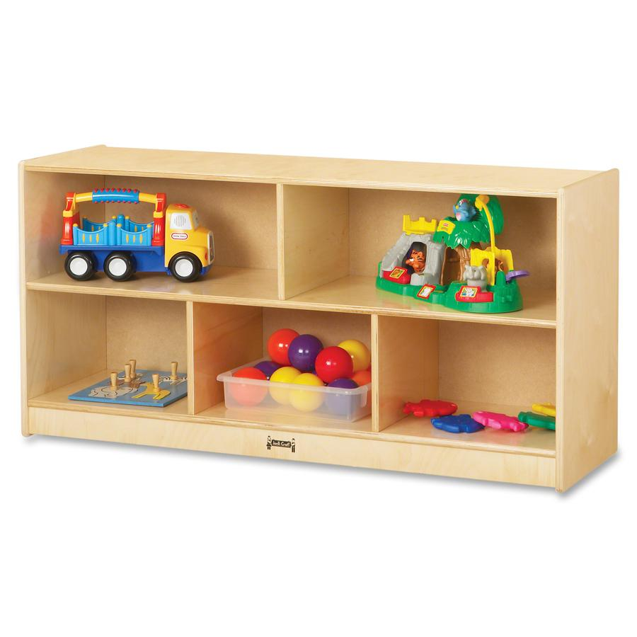 """Jonti-Craft Toddler Single Mobile Storage Unit - 5 Compartment(s) - 24.5"""" Height x 48"""" Width x 15"""" Depth - Baltic - Acrylic, Rubber - 1Each. Picture 2"""