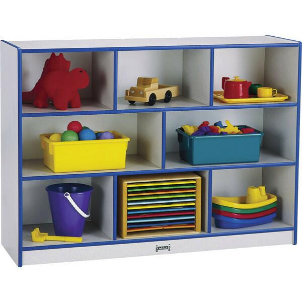 """Rainbow Accents Rainbow Super-sized Mobile Storage - 35.5"""" Height x 48"""" Width x 15"""" Depth - Floor - Teal - Hard Rubber - 1Each. Picture 4"""