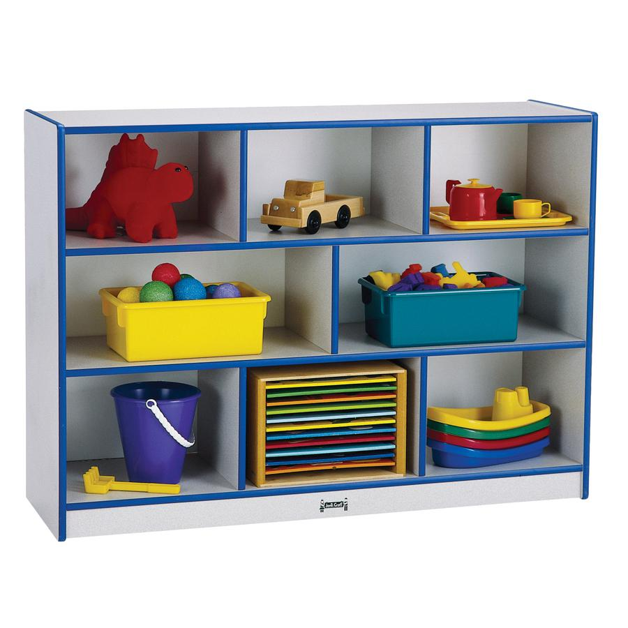 "Jonti-Craft Rainbow Super-sized Mobile Storage - 35.5"" Height x 48"" Width x 15"" Depth - Black - Hard Rubber - 1Each. Picture 2"