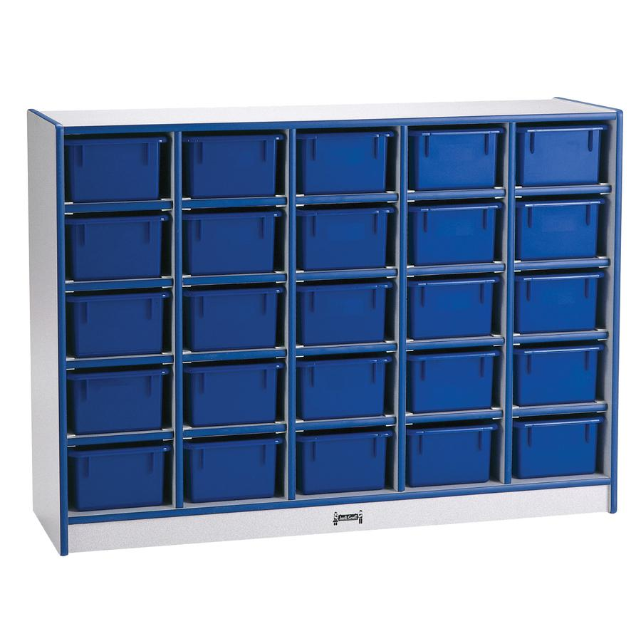 """Rainbow Accents Toddler Single Storage - 35.5"""" Height x 48"""" Width x 15"""" Depth - Navy - Rubber - 1Each. Picture 4"""