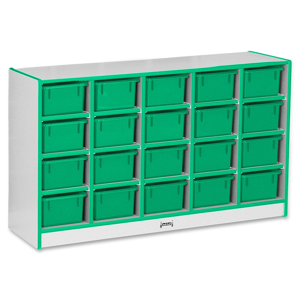 "Rainbow Accents Rainbow Accents Cubbie-trays Storage Unit - 29.5"" Height x 48"" Width x 15"" Depth - Green - Rubber - 1Each. Picture 2"