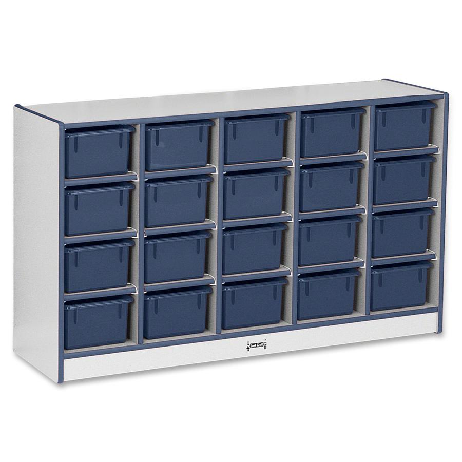 """Rainbow Accents Rainbow Accents Cubbie-trays Storage Unit - 29.5"""" Height x 48"""" Width x 15"""" Depth - Navy - Rubber - 1Each. Picture 2"""