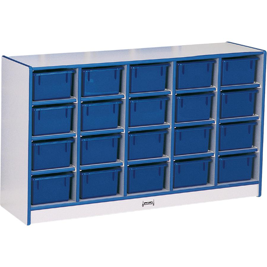"""Rainbow Accents Toddler Single Storage - 20 Compartment(s) - 29.5"""" Height x 48"""" Width x 15"""" Depth - Navy - Rubber - 1Each. Picture 2"""