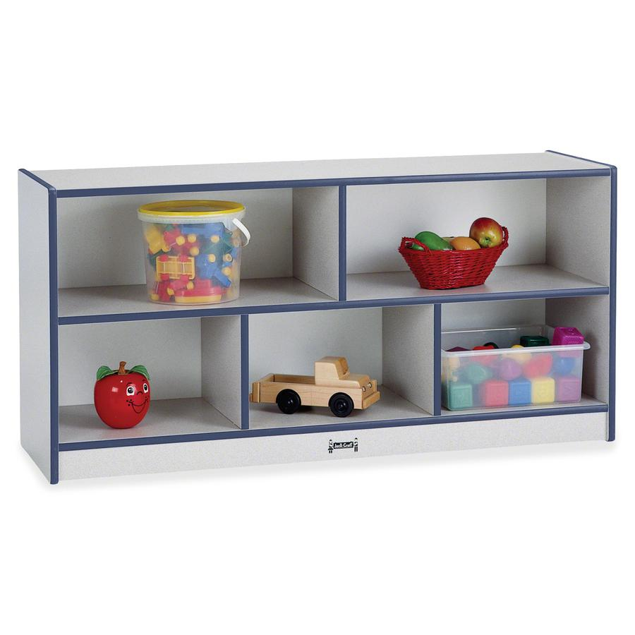 "Rainbow Accents Rainbow Low Open Single Storage Shelf - 29.5"" Height x 48"" Width x 15"" Depth - Navy - Rubber - 1Each. Picture 2"