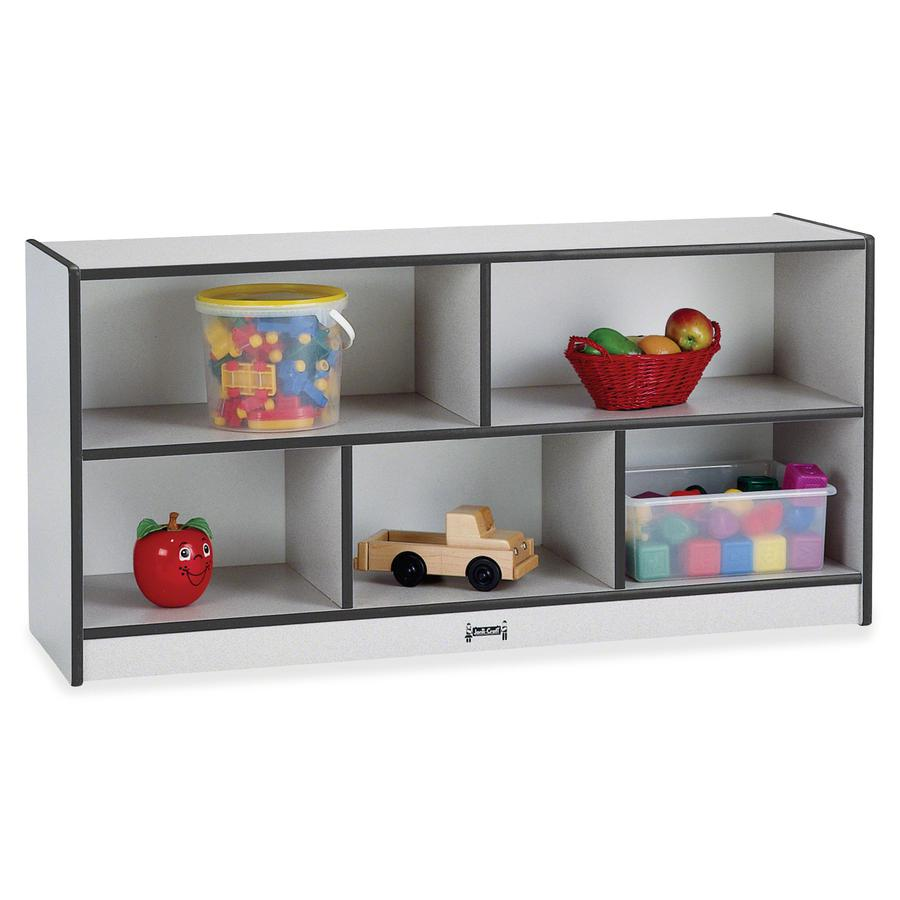 """Rainbow Accents Toddler Single Storage - 24.5"""" Height x 48"""" Width x 15"""" Depth - Black - Rubber - 1Each. Picture 4"""