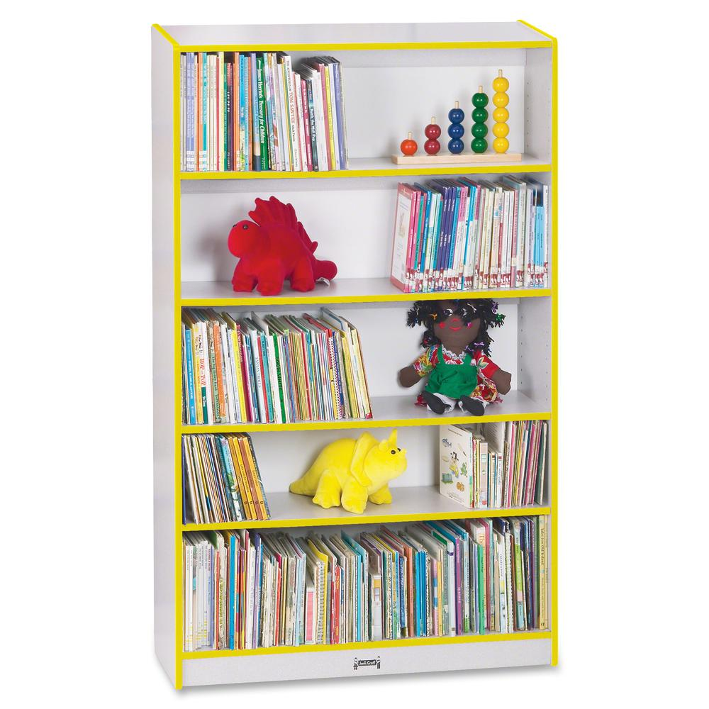 """Rainbow Accents 60"""" Bookcase - 59.5"""" Height x 36.5"""" Width x 11.5"""" Depth - Yellow - 2 / Each. Picture 5"""