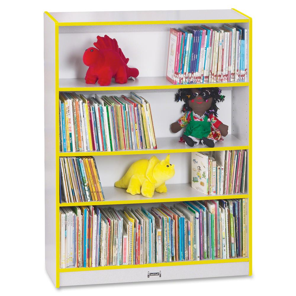 """Rainbow Accents 48"""" Bookcase - 48"""" Height x 36.5"""" Width x 11.5"""" Depth - Yellow - 1Each. Picture 5"""